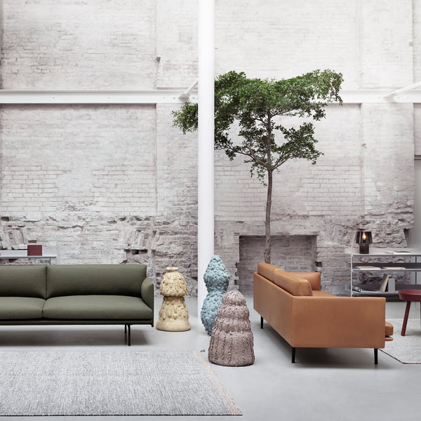 Outline sofa from Muuto in leather