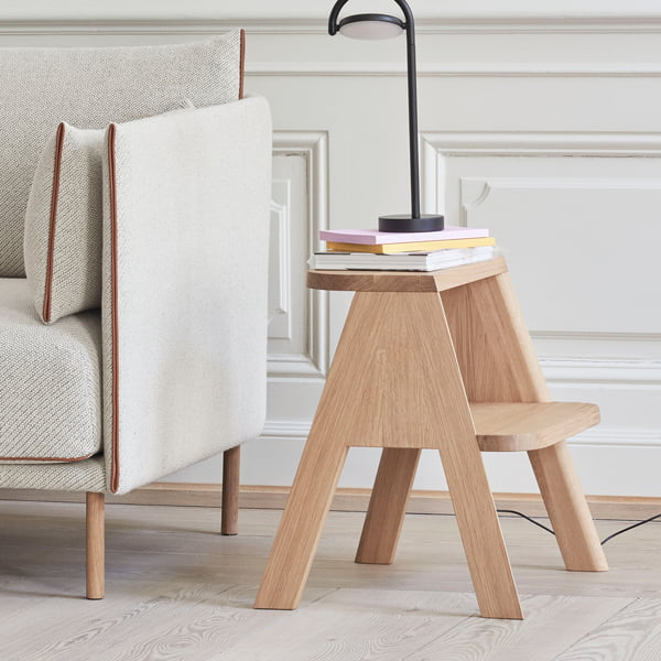 The Hay - Butler Step Ladder in Oak as a Side Table