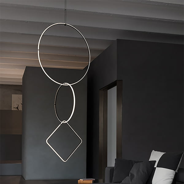 Arrangements pendant lamp by Flos - different shapes in combination