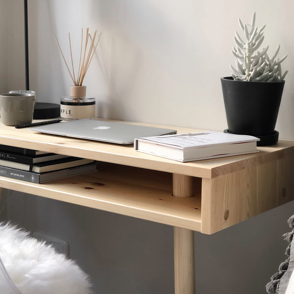 Capo console table in nature by Karup Design as desk