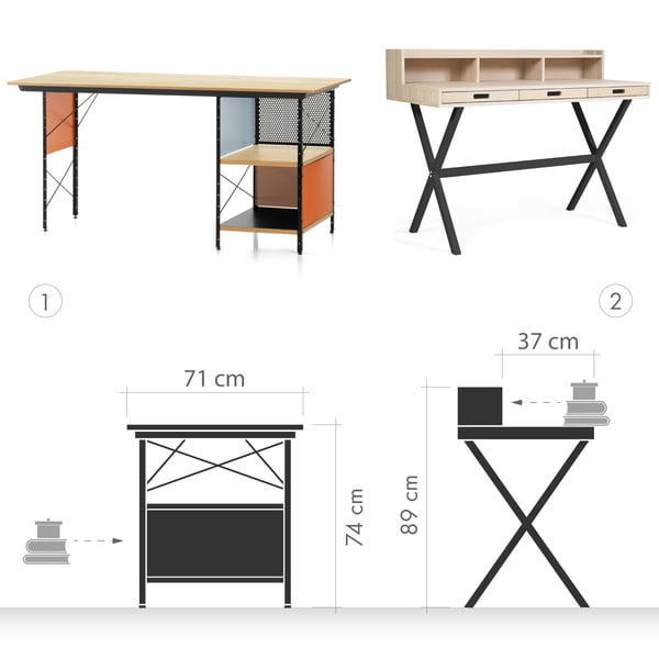 Desk Graphic 1 - Desk vs. Secretary
