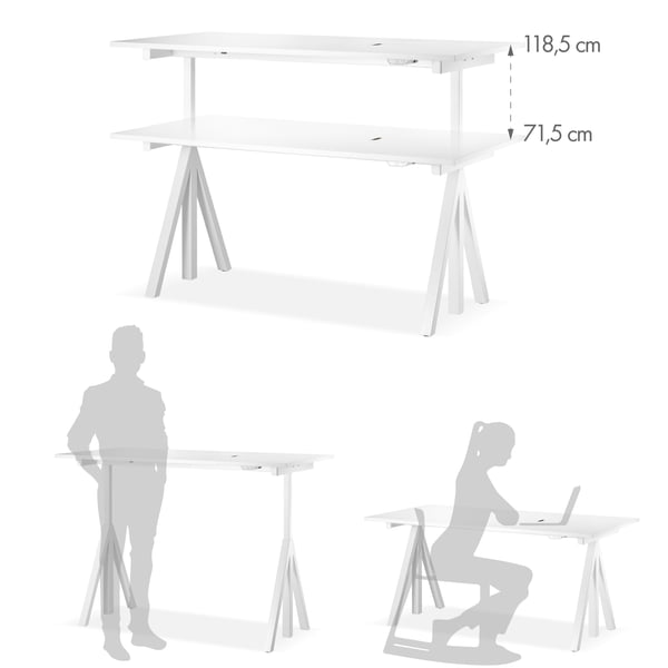 Desk graphic 4 - height adjustable