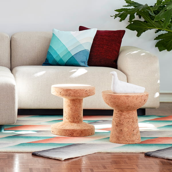 L'Oiseau and Cork Family stool by Vitra